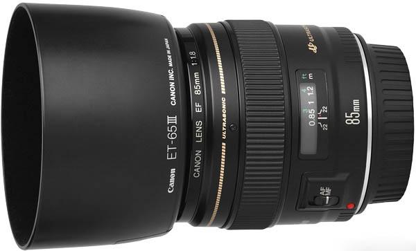 Objetivo Canon 85mm 1.8