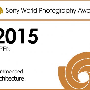 Insignia oficial de la categoría arquitectura en los Sony World Photography Awards
