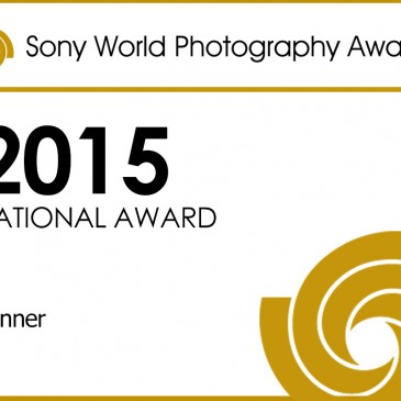 Insignia oficial como ganador nacional en los Sony World Photography Awards