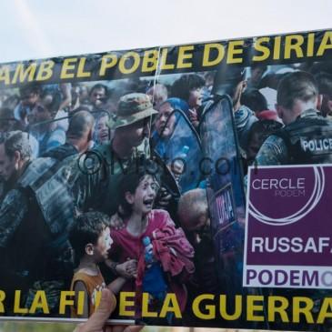 Movilización en apoyo a los refugiad@s sirios en Valencia
