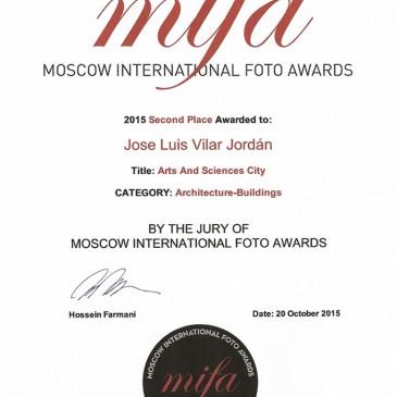 """Segunda plaza en el Concurso """"Moscow International Foto Awards 2015"""" (MIFA) subcategoría Arquitectura"""