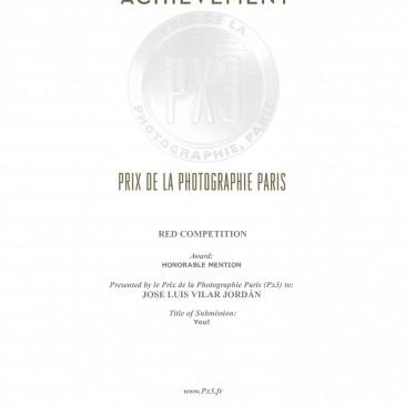 Mención Honorífica en el Concurso Prix de la Photographie Paris (PX3)